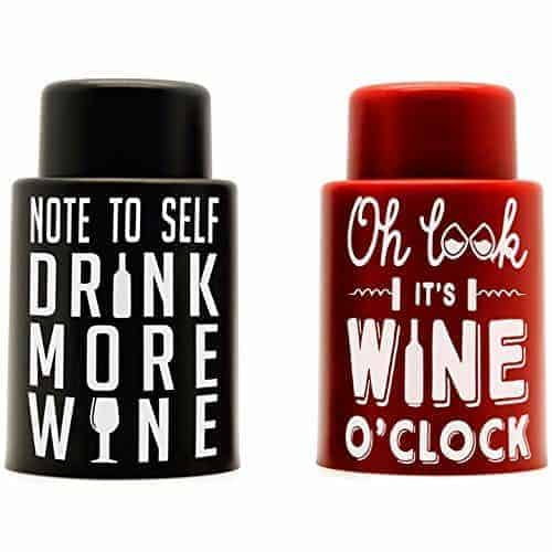 2 vaccum wine stoppers
