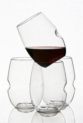 Govino flexible shatterproof unique wine glasses