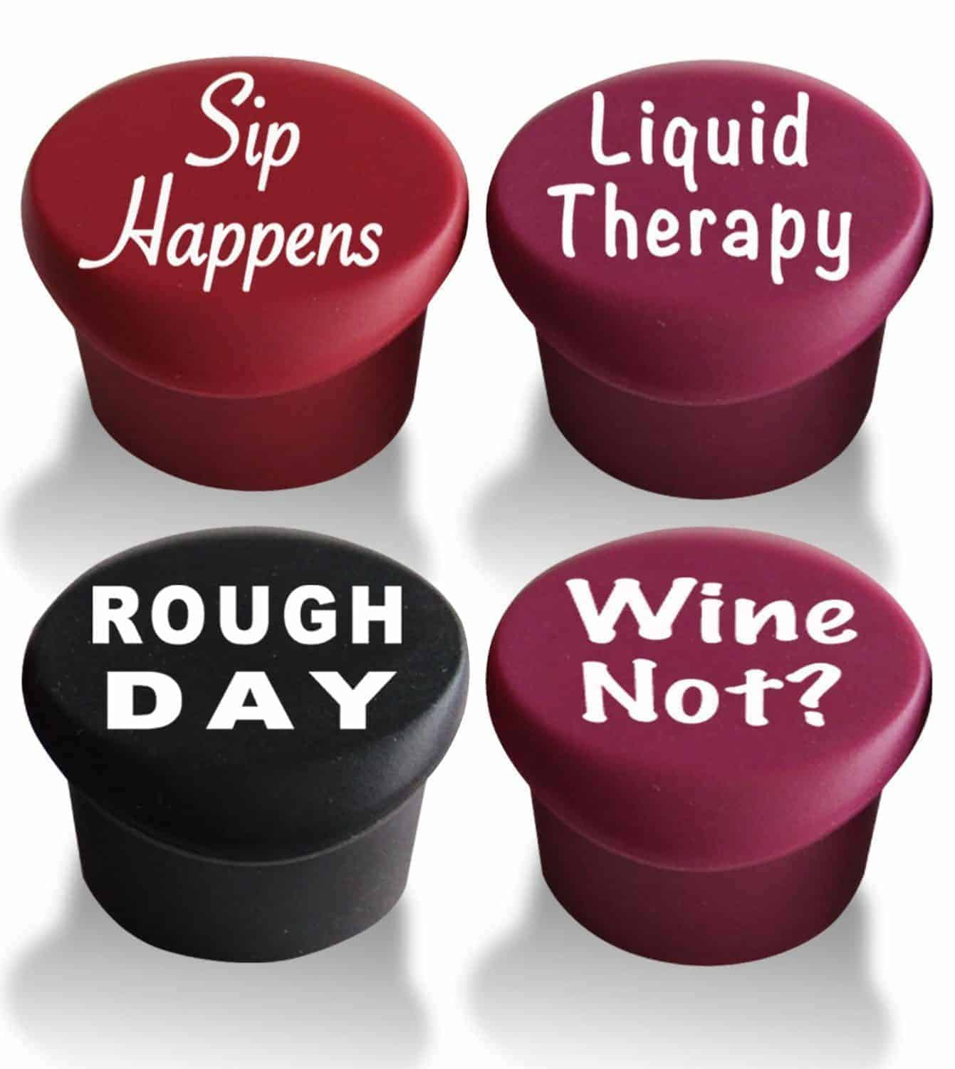 Reusable silicon wine stoppers