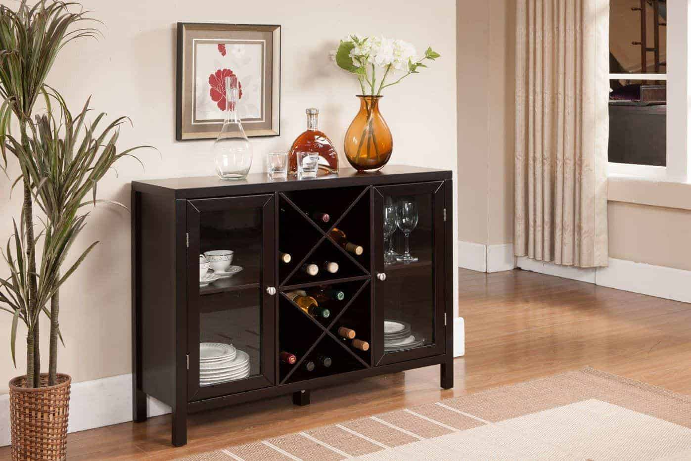 Kings Brand Furniture Wood Wine Rack Console