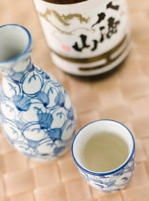 sake in a cup