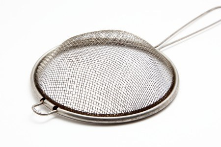 The strainer on white background