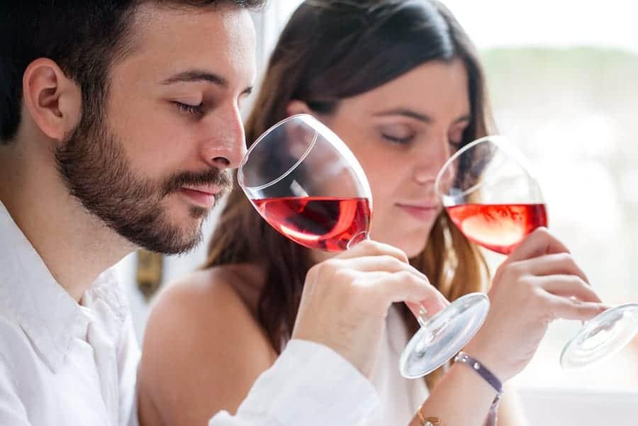 wine tasting couple